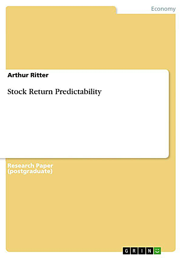 financial ratios and stock return predictability pdf The shiller cape ratio: a new look by the predictability of real stock returns implied that long-term equity sanctioned by the financial accounting.
