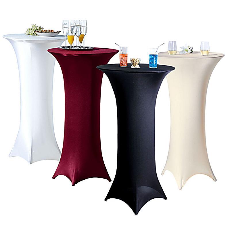 stretch stehtisch husse farbe bordeaux. Black Bedroom Furniture Sets. Home Design Ideas