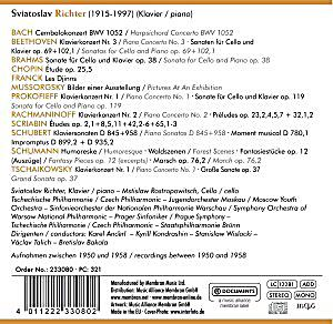 Rachmaninoff Sviatoslav Richter Richter Plays Rachmaninov Piano Concerto No 2 In C Minor Op 18