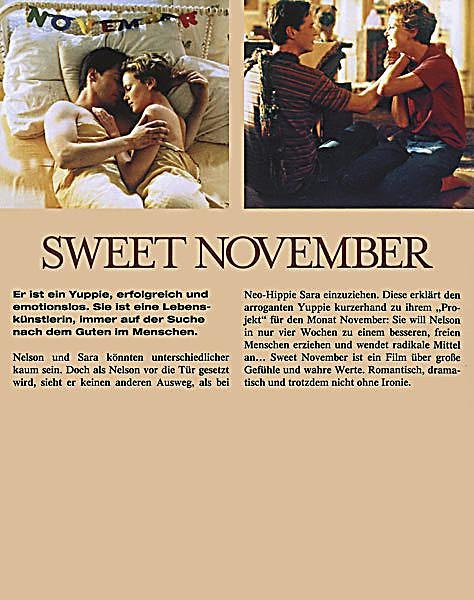 an analysis of the movie sweet november The federal bureau of investigation's albuquerque field office is asking for the public's assistance in identifying the person(s) responsible for the homicide of patrick t begay.