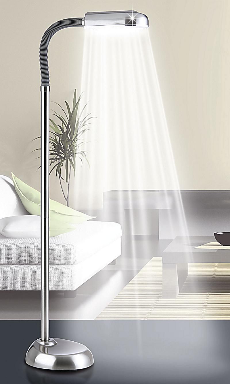 tageslicht standleuchte daylight farbe edelstahl. Black Bedroom Furniture Sets. Home Design Ideas