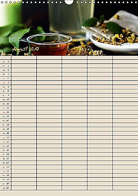 Tee liebhaber jahresplaner wandkalender 2017 din a3 hoch for Wand jahresplaner 2017