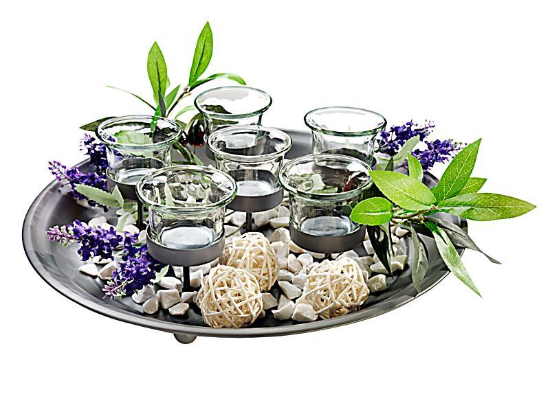 Teelicht tablett mit deko jetzt bei bestellen for Deko bestellen