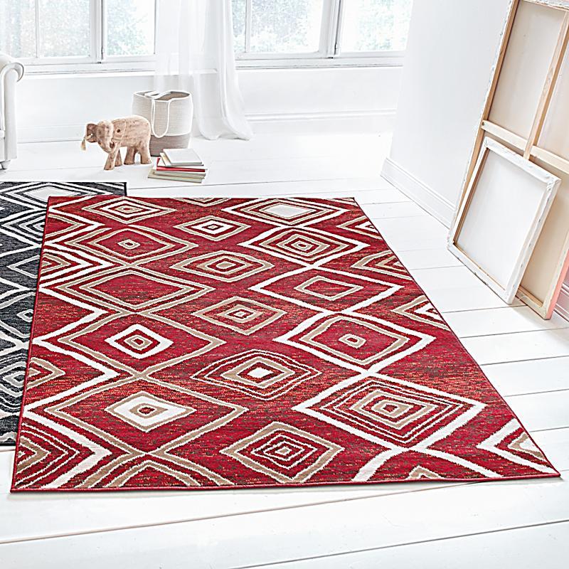 teppich square rot 120x170 jetzt bei bestellen. Black Bedroom Furniture Sets. Home Design Ideas