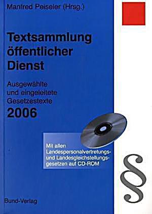 textsammlung ffentlicher dienst 2006 m cd rom buch. Black Bedroom Furniture Sets. Home Design Ideas