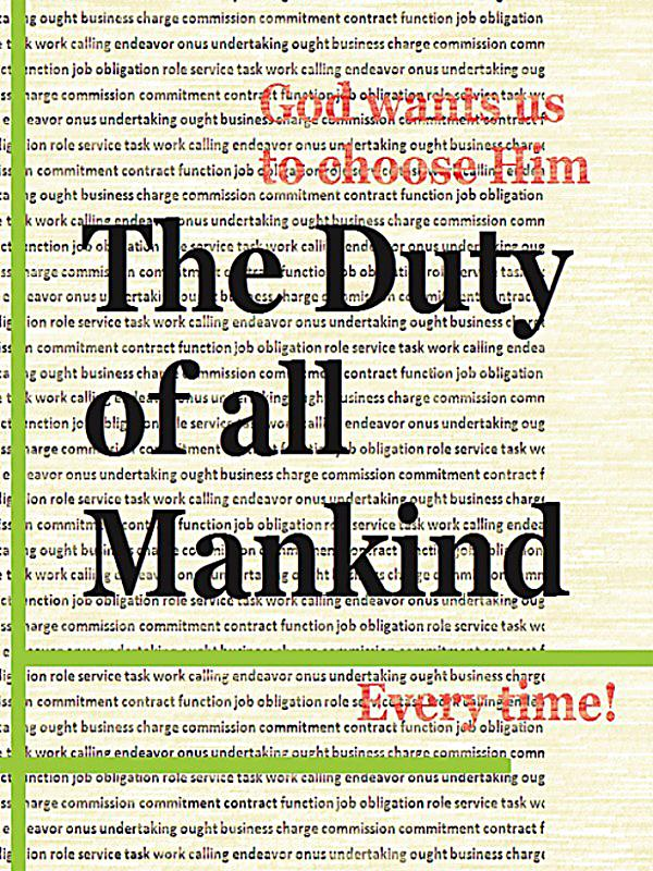 the duty of mankind The master of mankind (novel) from warhammer 40k - lexicanum jump to:  legion of one • butcher's nails • grey angel • burden of duty • garro:.