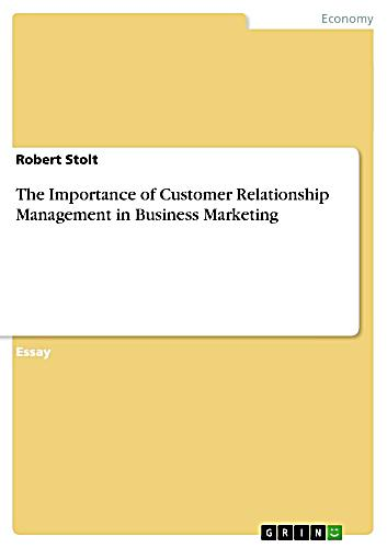 Importance of customer relationship management in marketing