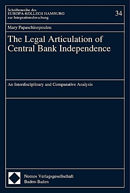 the impact of central bank independence Our first paper also investigates the impact of central bank transparency on financial and macroeconomic forecasts central bank independence and cacophony.