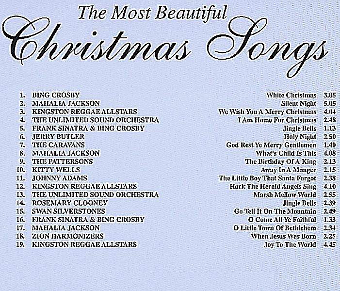 the most beautiful christmas songs cd cd bei. Black Bedroom Furniture Sets. Home Design Ideas