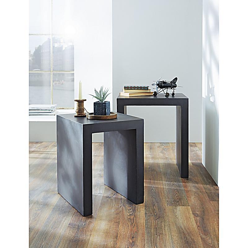 tisch set claudius 2 tlg grau jetzt bei. Black Bedroom Furniture Sets. Home Design Ideas
