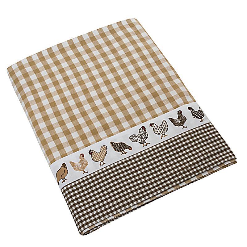 tischdecke huhn braun beige jetzt bei bestellen. Black Bedroom Furniture Sets. Home Design Ideas