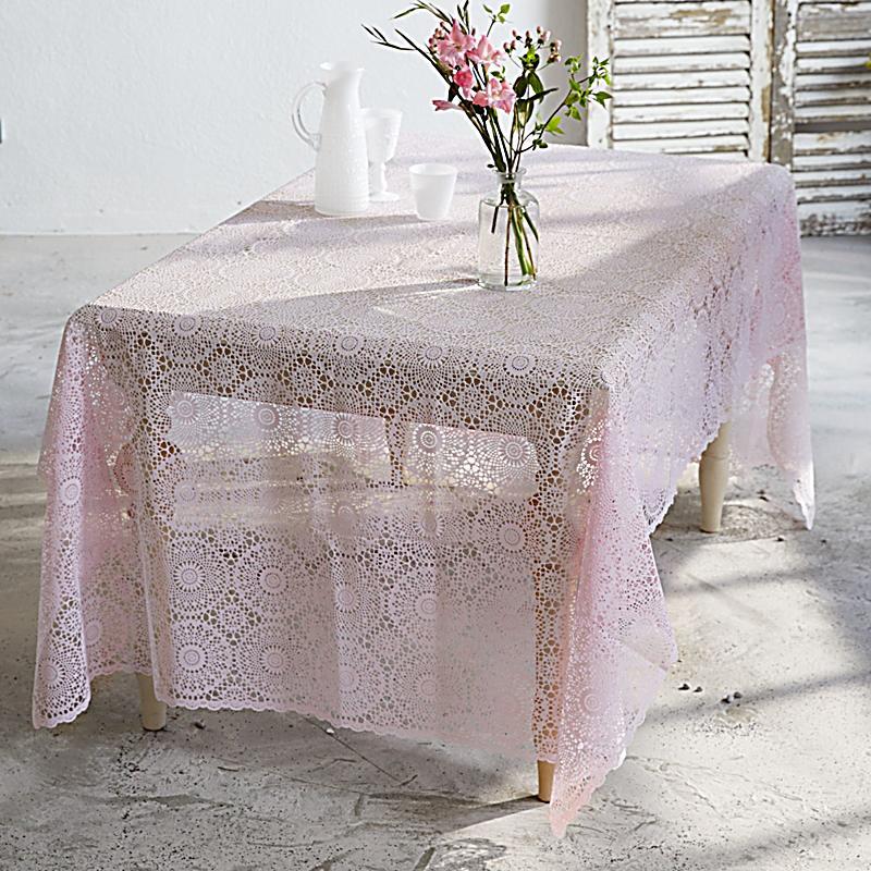 tischdecke spitze pink 150x264 jetzt bei bestellen. Black Bedroom Furniture Sets. Home Design Ideas