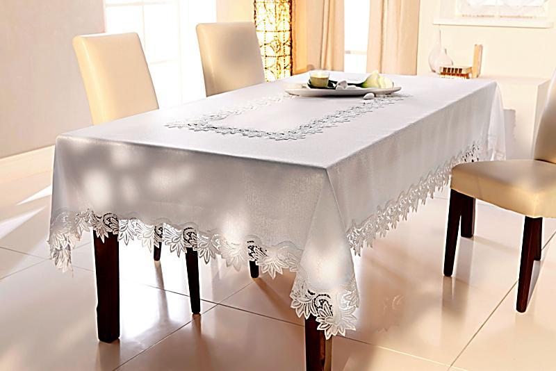 tischdecke spitze wei gr e 160 x 220 cm. Black Bedroom Furniture Sets. Home Design Ideas