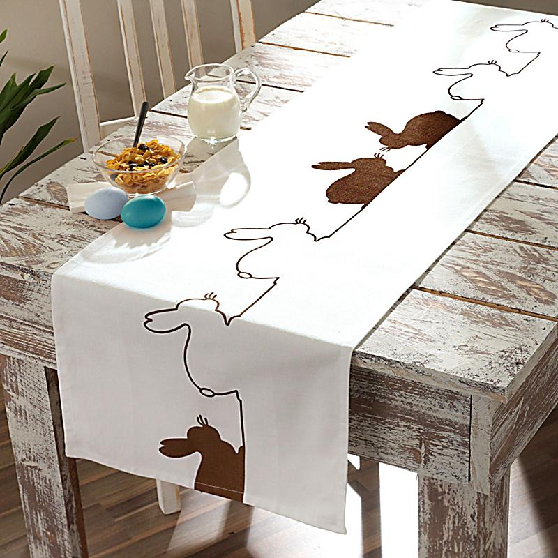 tischl ufer lovely bunny wei braun gr e 45 x 250 cm. Black Bedroom Furniture Sets. Home Design Ideas