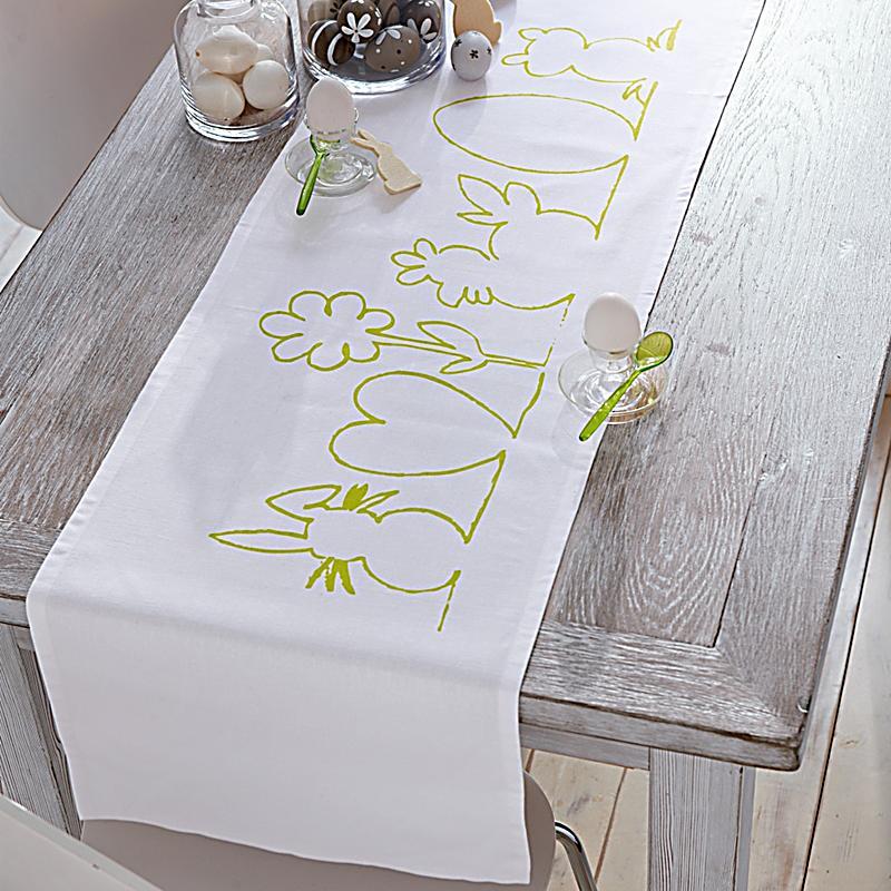 tischl ufer silhouette wei gr n gr e 40 x 150 cm. Black Bedroom Furniture Sets. Home Design Ideas