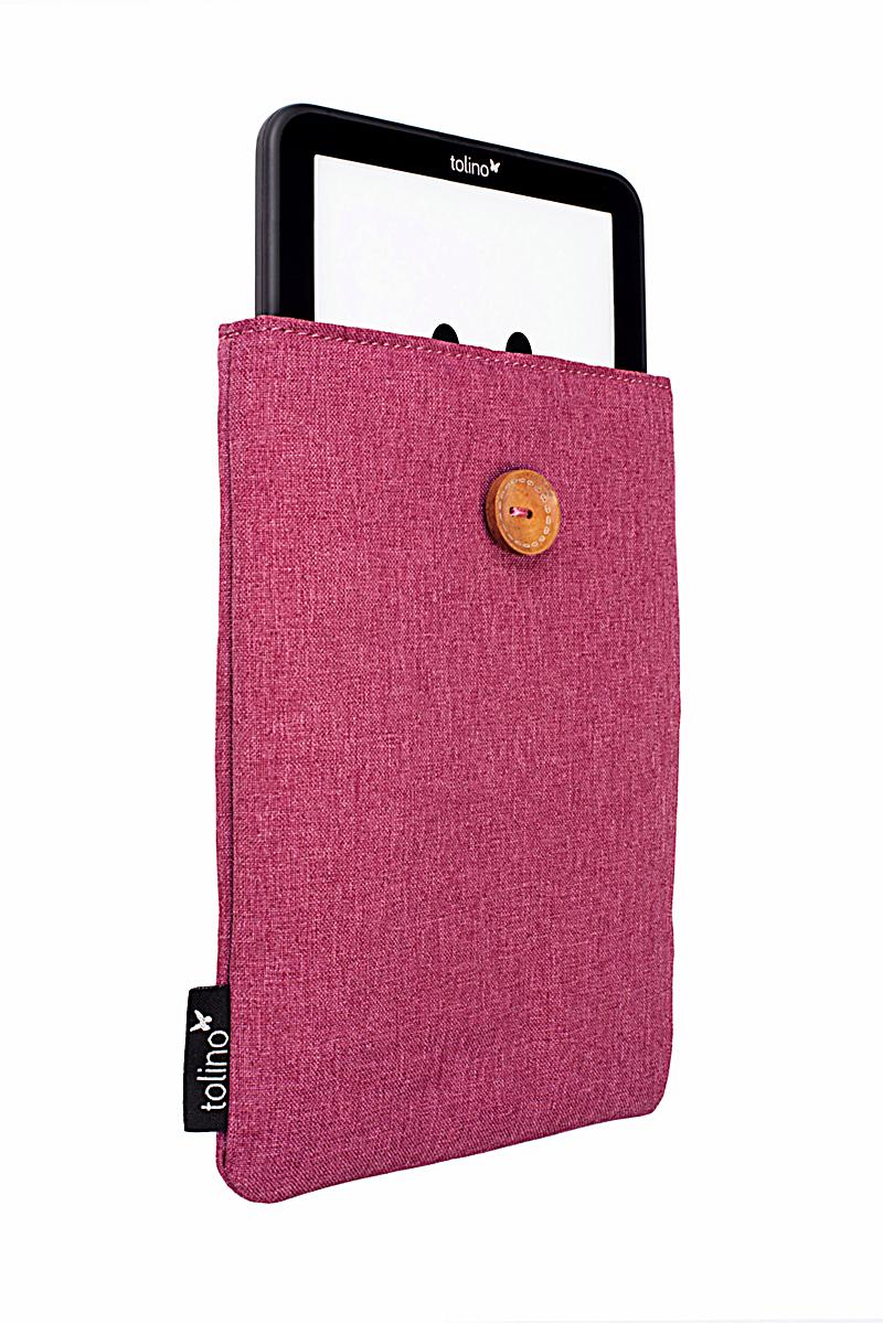 tolino ereader stofftasche mit innenfutter farbe sangria. Black Bedroom Furniture Sets. Home Design Ideas