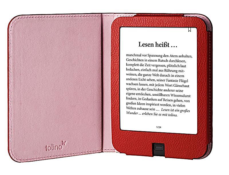 tolino shine 2 hd schutztasche in lederoptik farbe rot. Black Bedroom Furniture Sets. Home Design Ideas