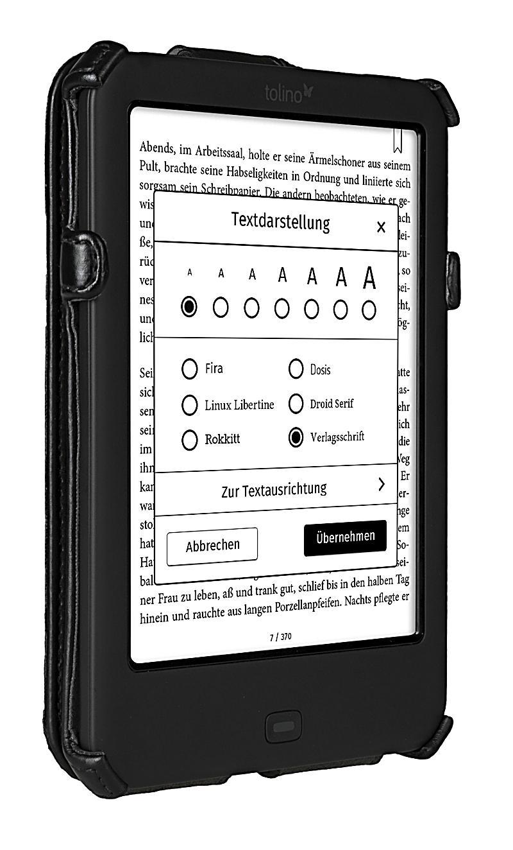 tolino shine 2 hd schutztasche mit standfunktion farbe schwarz. Black Bedroom Furniture Sets. Home Design Ideas