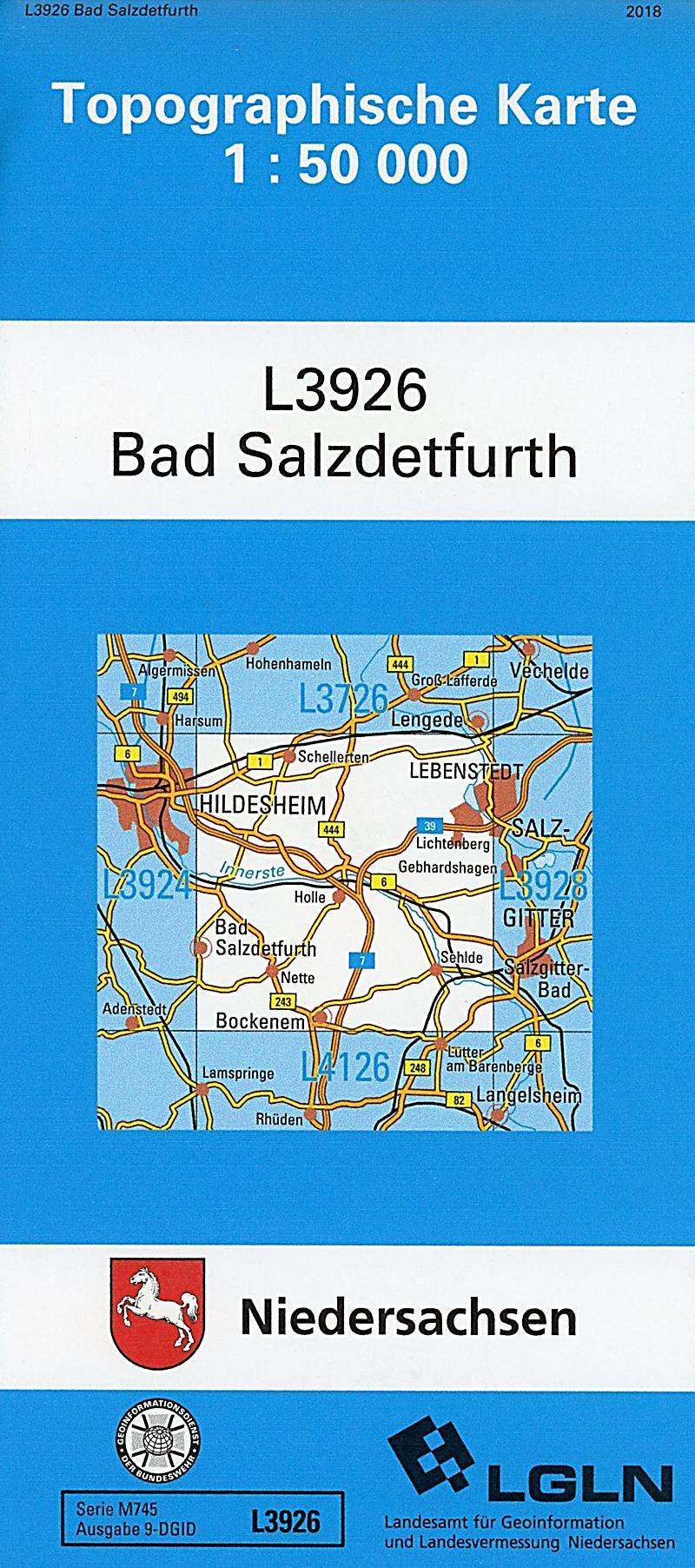 Niedersachsen Karte Pdf.Topographische Karten Niedersachsen Bl 3926 Bad Salzdetfurth Pdf