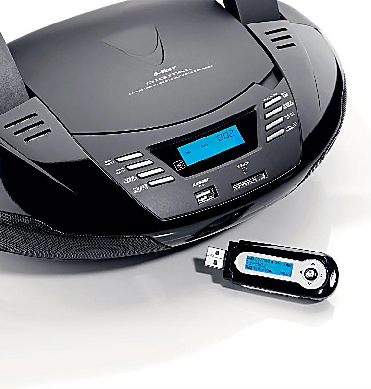 tragbarer cd player radio mit usb jetzt bei. Black Bedroom Furniture Sets. Home Design Ideas