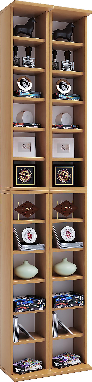 vcm anbauprogramm almera dvd cd regal rack m bel farbe buche. Black Bedroom Furniture Sets. Home Design Ideas
