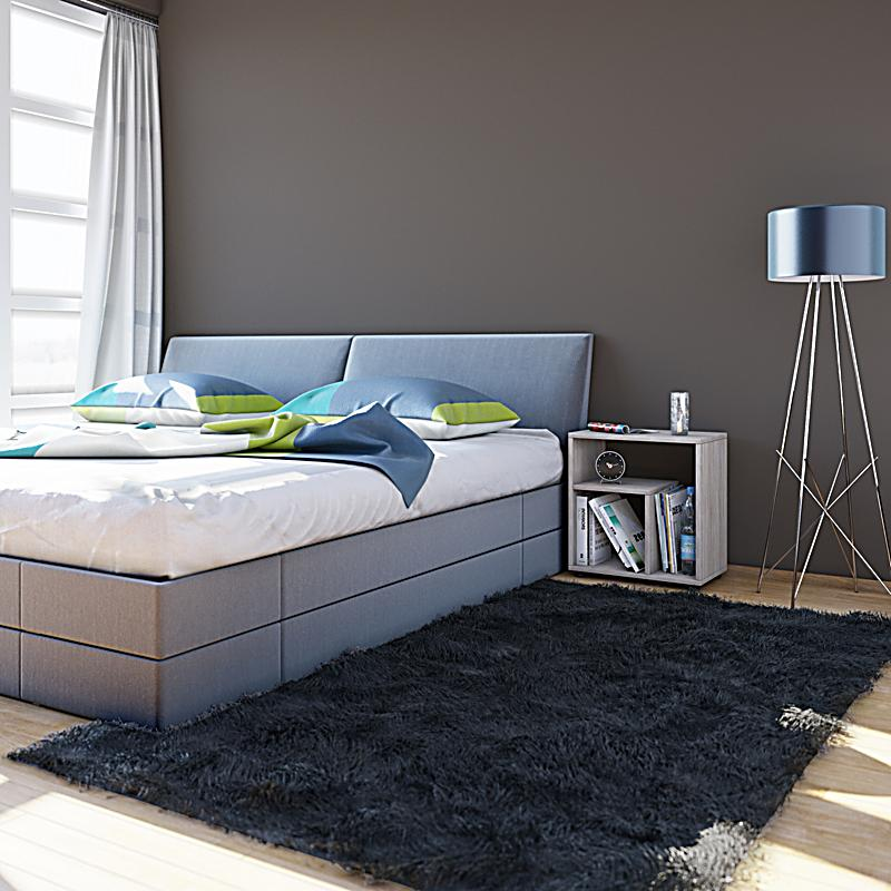 vcm beistelltisch nachttisch kaffeetisch nachtkonsole couchtisch wohnzimmertisch zeito farbe. Black Bedroom Furniture Sets. Home Design Ideas
