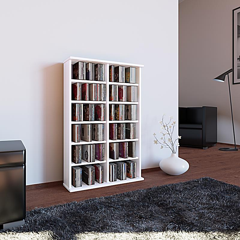 vcm cd dvd m bel ronul schrank regal ohne glast r in 7 farben farbe wei. Black Bedroom Furniture Sets. Home Design Ideas
