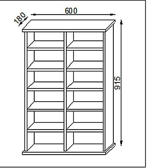 vcm cd dvd m bel ronul schrank regal ohne glast r in 7 farben farbe buche. Black Bedroom Furniture Sets. Home Design Ideas