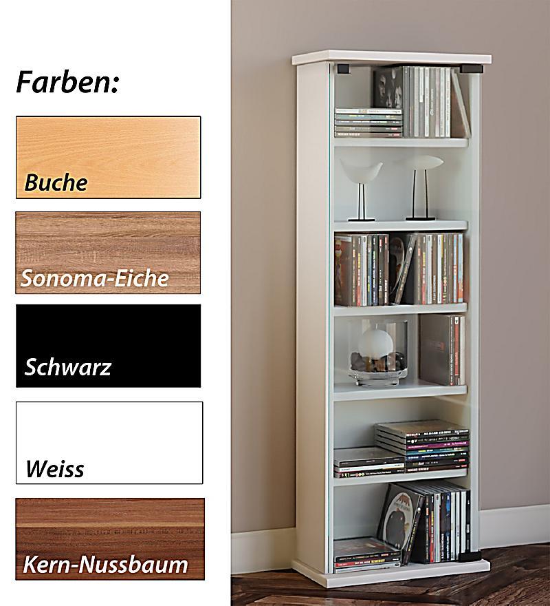 vcm cd dvd m bel vetro schrank regal farbe kirschbaum. Black Bedroom Furniture Sets. Home Design Ideas