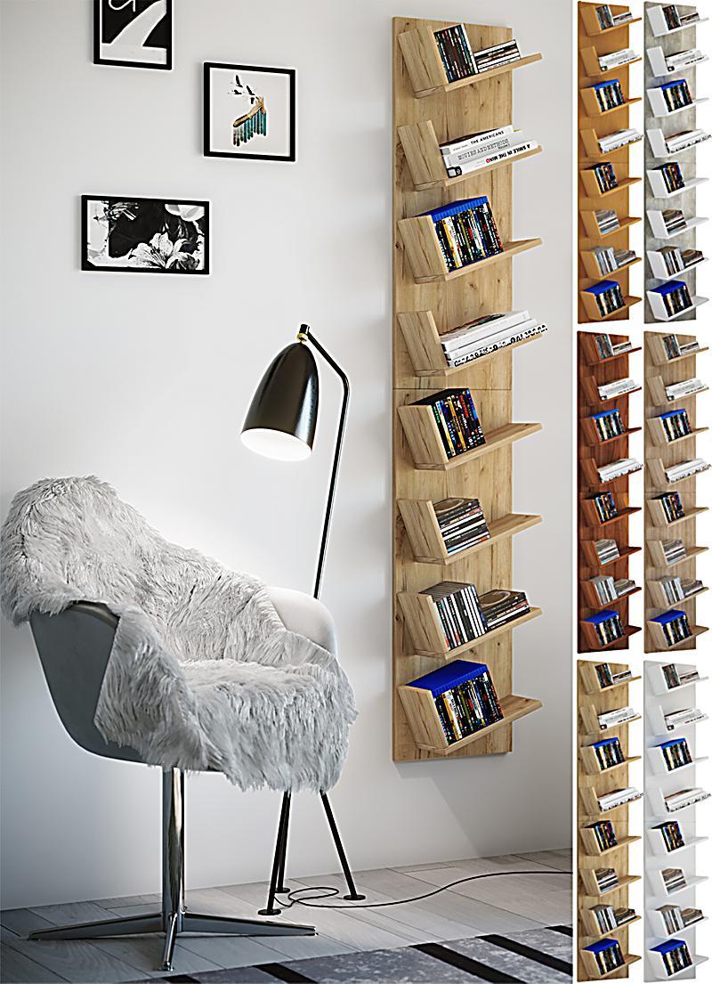 VCM Design Wandregal Hängeregal Bücherregal CD DVD Schrank Regal ...