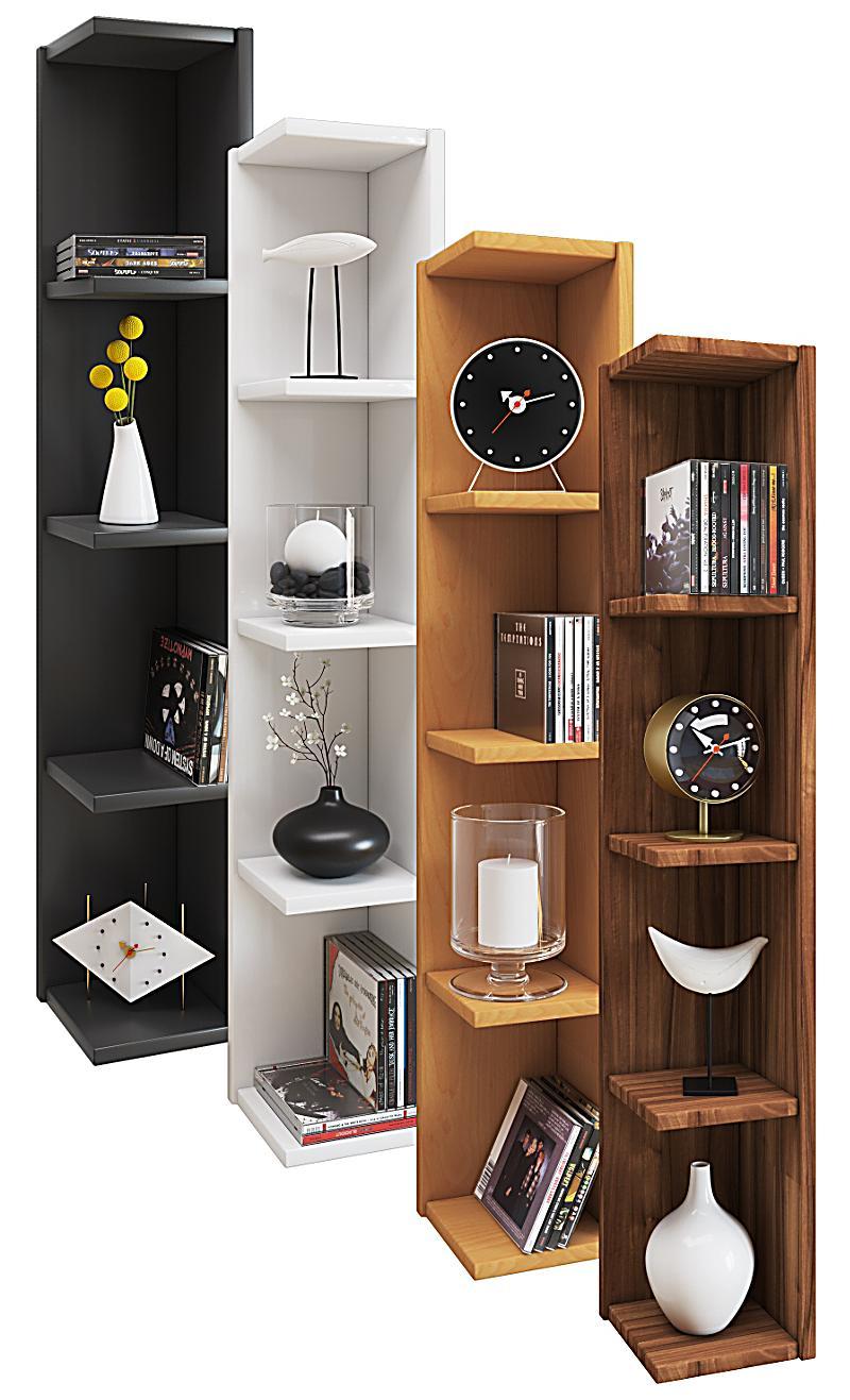 vcm eckregal wandregal standregal b cherregal cd dvd regal holz board honsa farbe kern nussbaum. Black Bedroom Furniture Sets. Home Design Ideas