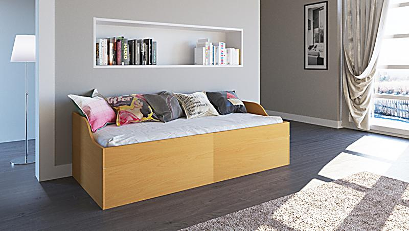 vcm funktionsbett g stebett klappbett einzelbett. Black Bedroom Furniture Sets. Home Design Ideas