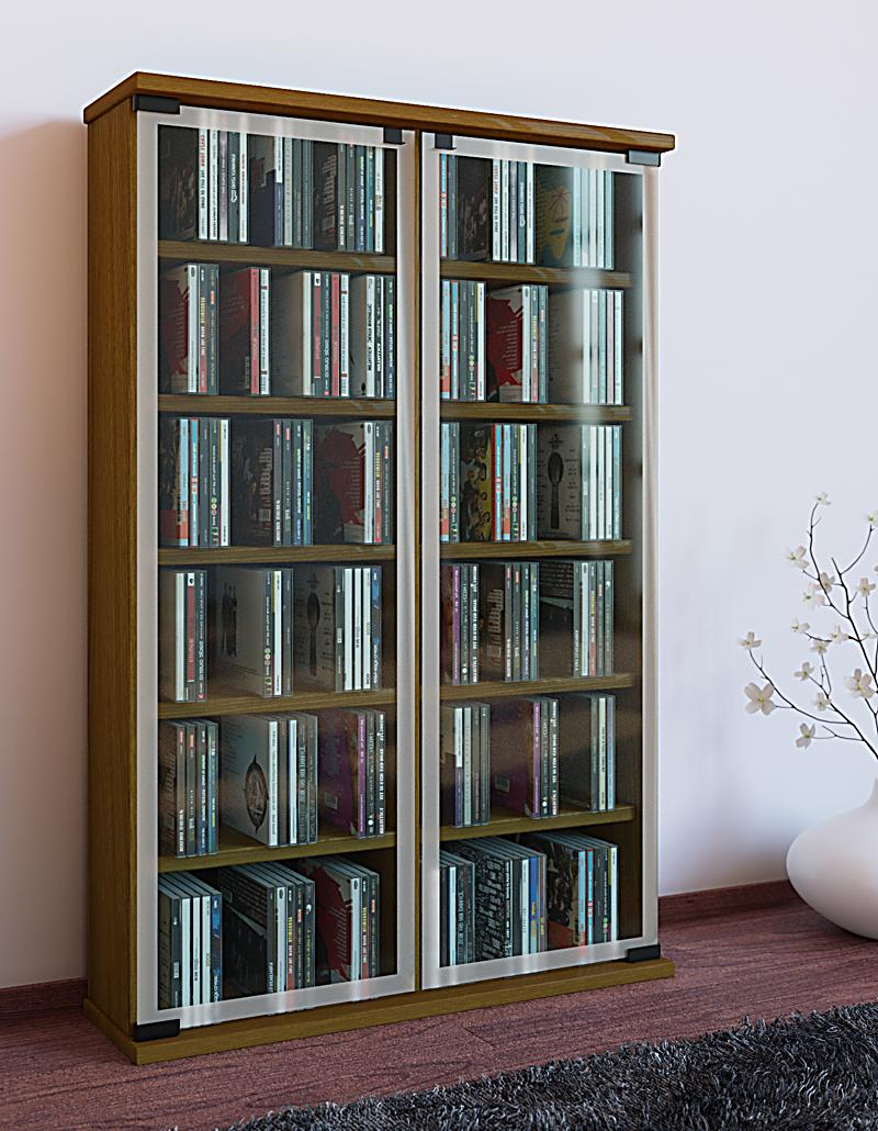 Regal Rustikal vcm regal dvd cd rack medienregal medienschrank aufbewahrung