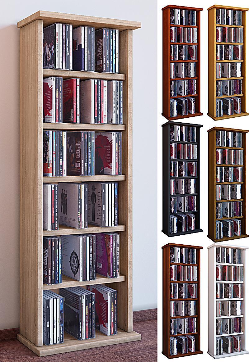 vcm regal dvd cd rack medienregal medienschrank. Black Bedroom Furniture Sets. Home Design Ideas