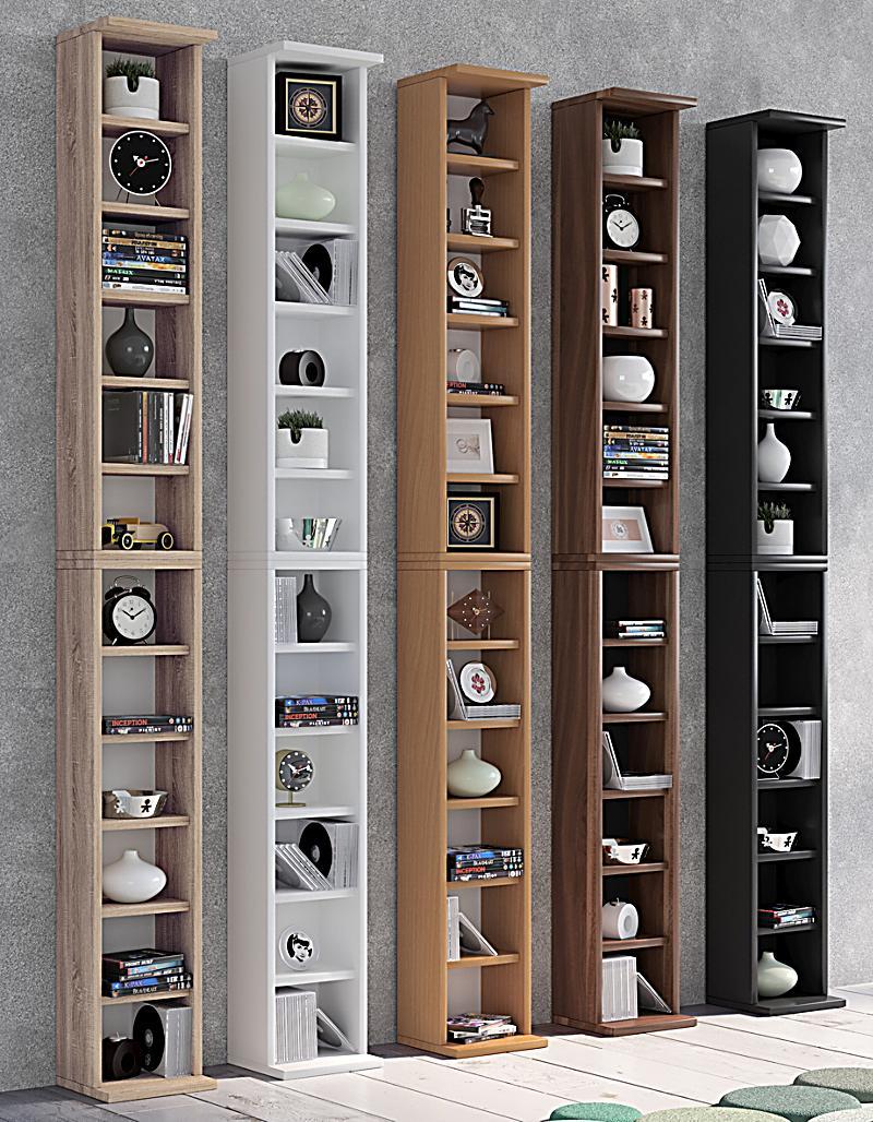 vcm regal dvd cd rack m bel aufbewahrung holzregal standregal m bel anbauprogramm bigol farbe. Black Bedroom Furniture Sets. Home Design Ideas