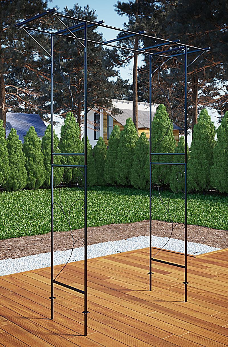 vcm rosenbogen torbogen rankhilfe rankgitter eisen f r. Black Bedroom Furniture Sets. Home Design Ideas
