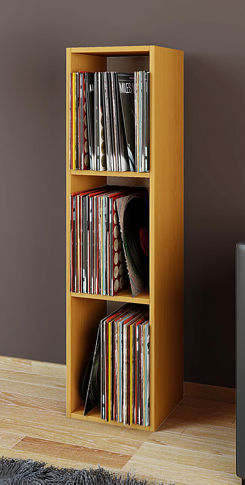 vcm schallplatten regal archiv lp mbel archivierung platto farbe buche - Schallplattenregal