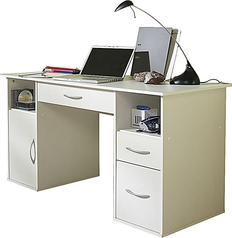 vcm schreibtisch pc fach tallinn weiss schubladen computertisch vcm schreibtisch mit pc fach. Black Bedroom Furniture Sets. Home Design Ideas