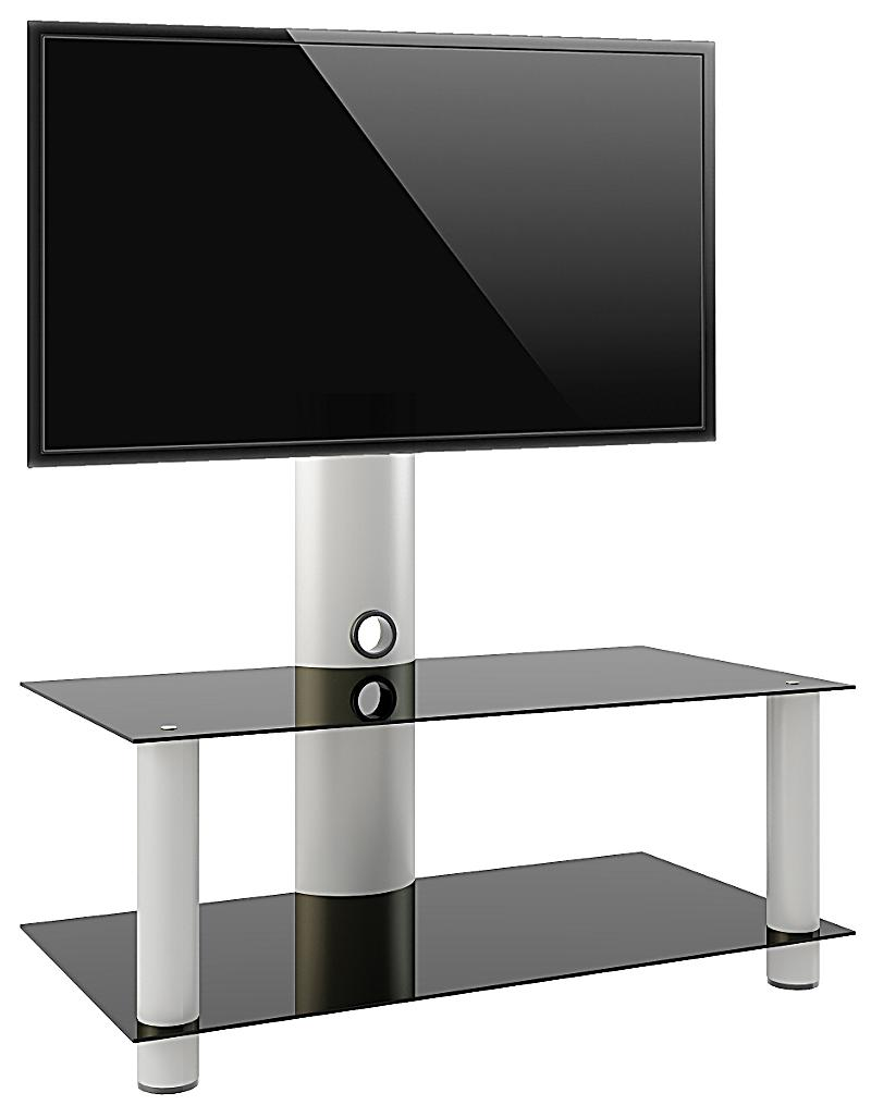 vcm tv rack lowboard konsole fernsehtisch tv m bel glastisch tisch mobil fahrbar rollen schrank. Black Bedroom Furniture Sets. Home Design Ideas