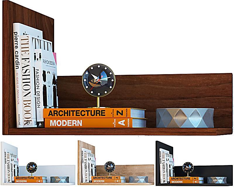 vcm wandregal regal h ngeregal wandboard regal h ngeboard b cherregal holz blisa farbe sonoma. Black Bedroom Furniture Sets. Home Design Ideas
