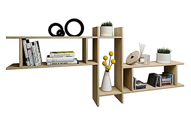 vcm wandregal regal h ngeregal wandboard regal h ngeboard b cherregal holz sirola maxi farbe. Black Bedroom Furniture Sets. Home Design Ideas