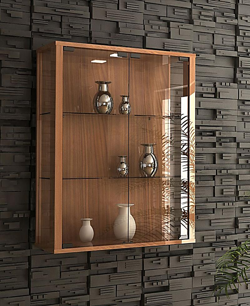 vcm wandvitrine sammelvitrine glasvitrine wand vitrine regal schrank glas h ngevitrine udina. Black Bedroom Furniture Sets. Home Design Ideas