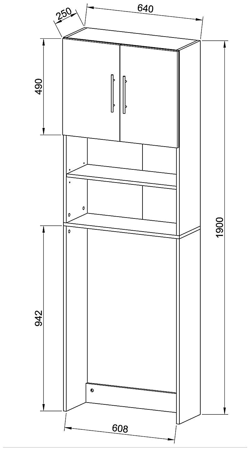 vcm waschmaschinenschrank badschrank hochschrank badregal. Black Bedroom Furniture Sets. Home Design Ideas