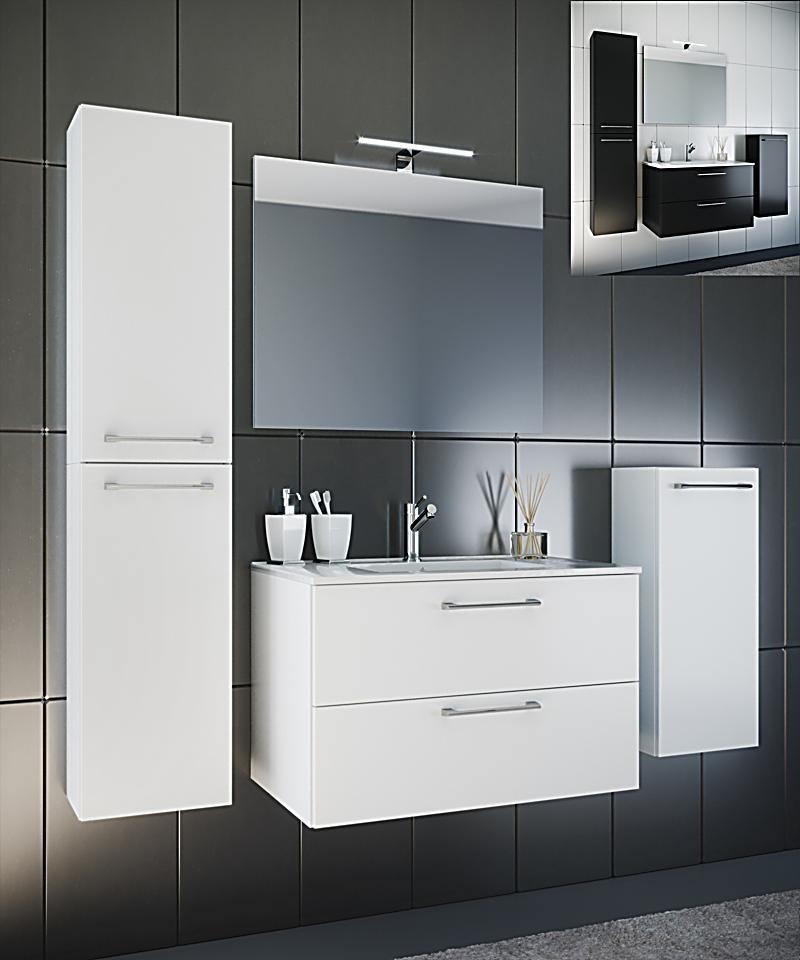 vcm waschplatz badm bel badezimmer komplett set waschtisch waschbecken spiegel badset 5 tlg. Black Bedroom Furniture Sets. Home Design Ideas