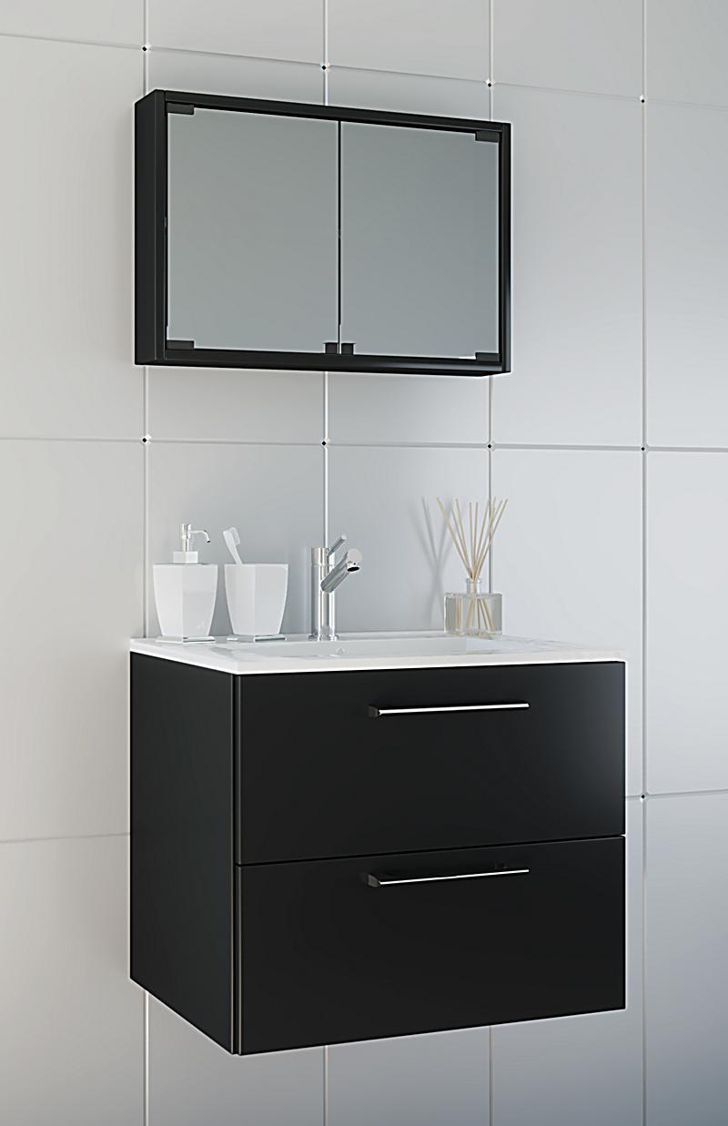 vcm waschplatz badm bel badezimmer komplett set waschtisch waschbecken spiegel badblock tenas. Black Bedroom Furniture Sets. Home Design Ideas
