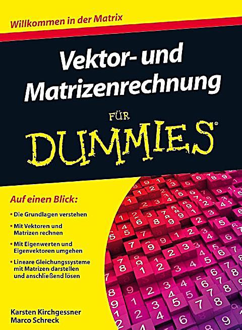 vektor und matrizenrechnung f r dummies buch portofrei. Black Bedroom Furniture Sets. Home Design Ideas