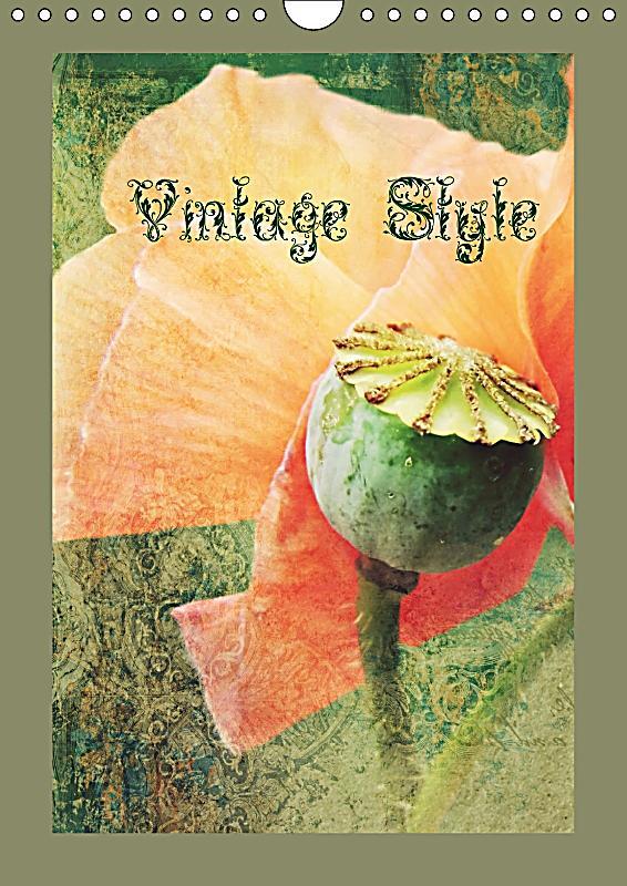 Vintage style wandkalender 2018 din a4 hoch kalender for Ka che vintage look