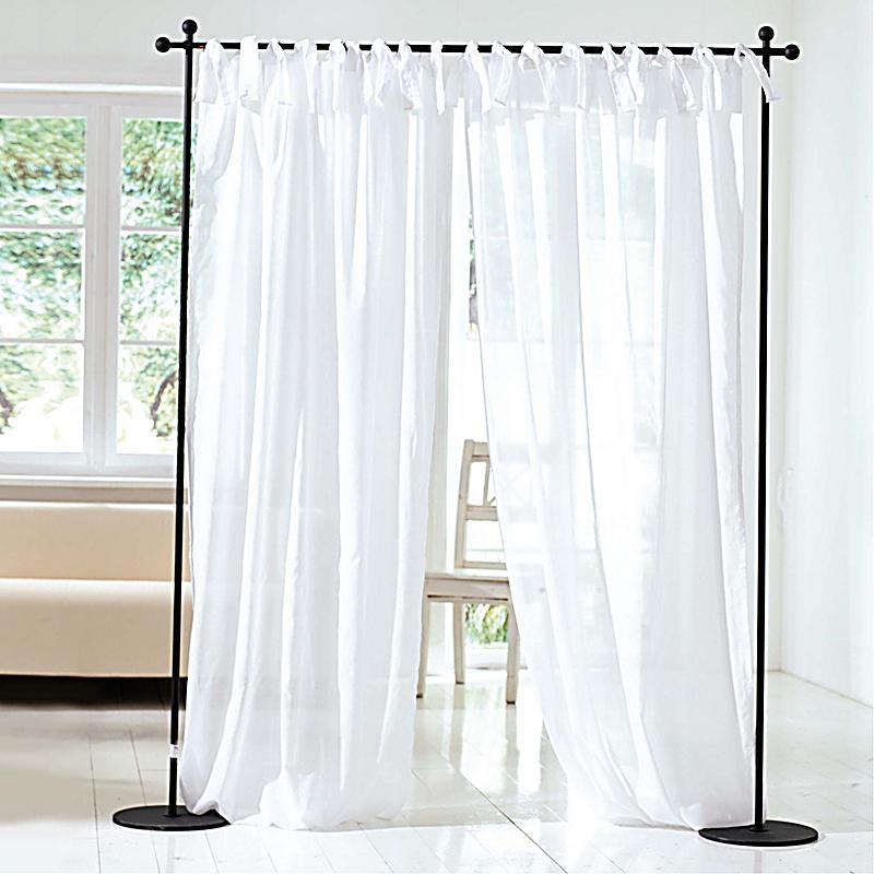 voile vorhang set 2 teilig 140 x 250 cm farbe wei. Black Bedroom Furniture Sets. Home Design Ideas