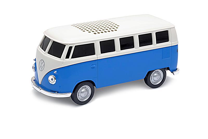 vw bus bluetooth lautsprecher blau bestellen. Black Bedroom Furniture Sets. Home Design Ideas