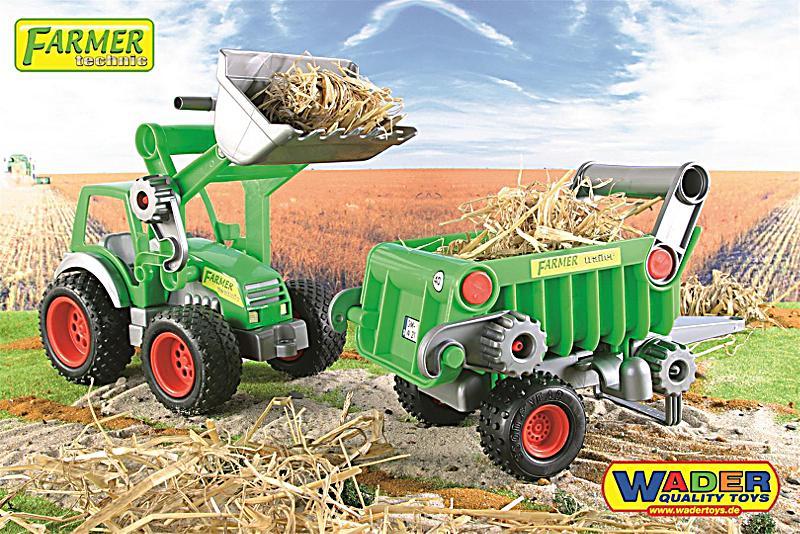 Wader farmer traktor mit frontlade kippanhänger